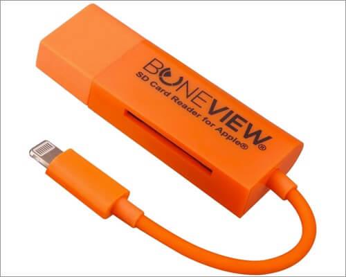 BoneView Lightning to SD Card Camera Reader для iPhone и iPad