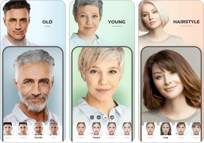 Приложение для укладки волос Faceapp для iPhone и iPad скриншот