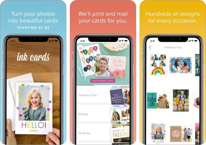 Скриншот приложения Ink Cards Valentine's Day для iPhone