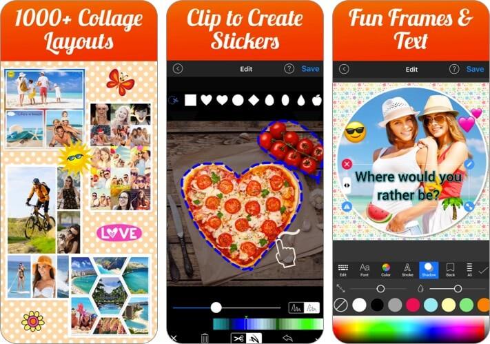 Скриншот приложения Photo Collage Maker and Creator Valentine's Day для iPhone