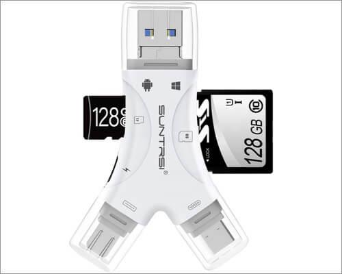 Кардридер SUNTRSI 4-в-1 для iPhone и iPad