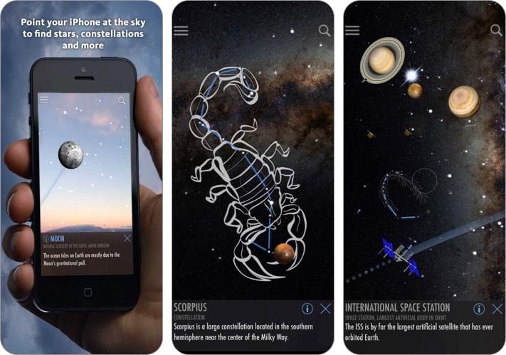 Скриншот приложения SkyLite Stargazing для iPhone и iPad