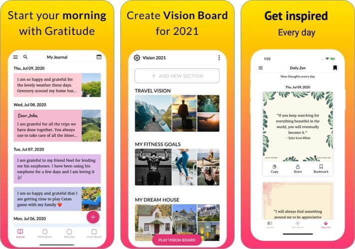 Дневник благодарности Скриншот приложения для iPhone и iPad