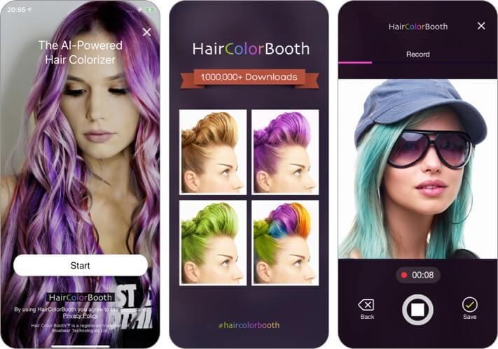 приложение для укладки волос для iPhone и iPad, скриншот
