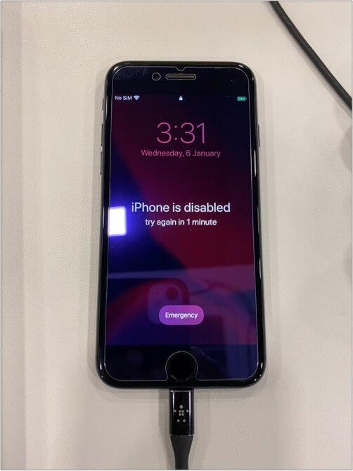 Как выглядит отключенный iPhone