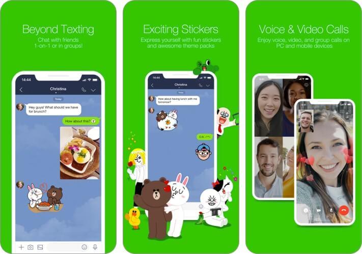 Скриншот приложения Line для iPhone