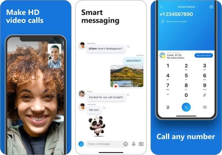 Приложение Skype для iPhone Альтернативный снимок экрана WhatsApp