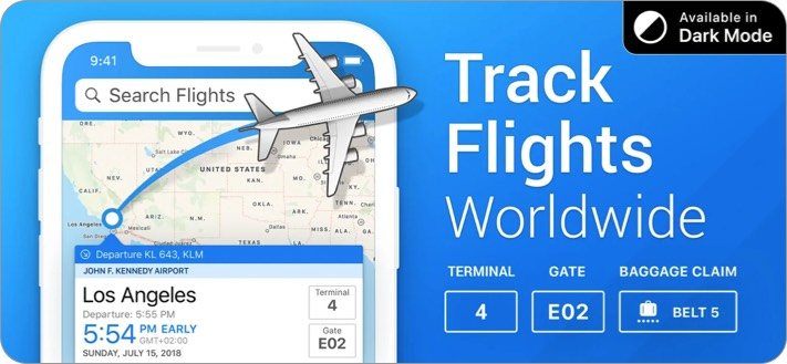 Скриншот приложения Flight Tracker для iPhone и iPad