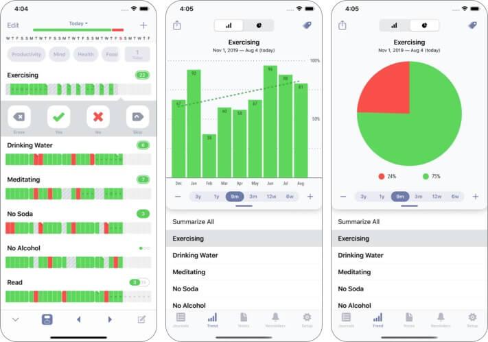 Образ жизни Новогодние разрешения Скриншот приложения для iPhone и iPad