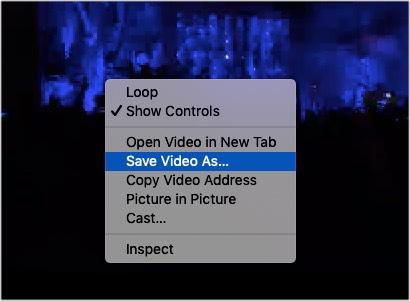 Klicken Sie mit der rechten Maustaste und speichern Sie das gewünschte Facebook-Video