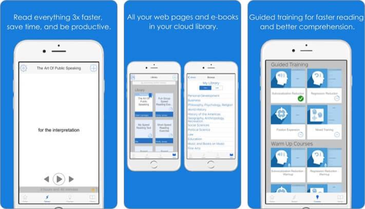 Лучшее приложение для скорочтения Spreeder для iPhone, скриншот
