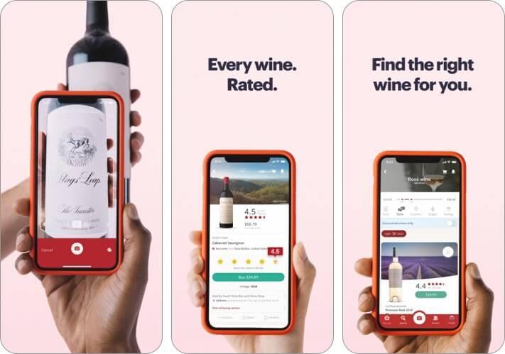 Скриншот лучших винных приложений Vivino для iPhone