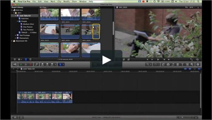Программа для редактирования видео Apple Final Cut Pro для Mac