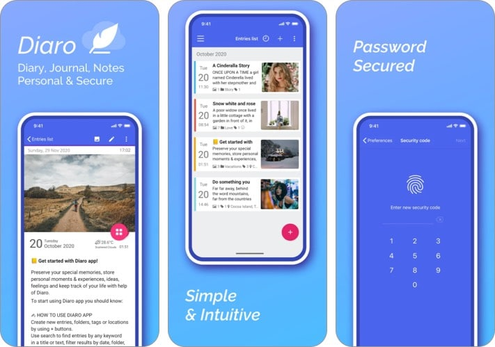 Журнал Diaro для iPhone и iPad