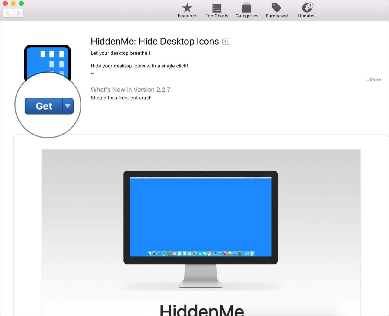 Установите приложение HiddenMe на Mac