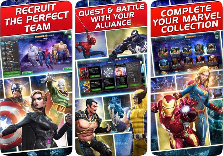 Скриншот приложения файтинг для iOS MARVEL: Битва чемпионов
