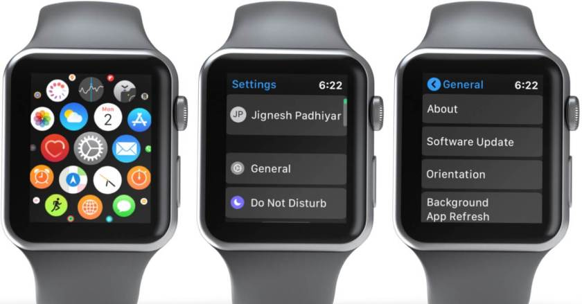 Откройте приложение «Настройки», выберите «Общие» и нажмите «Обновление программного обеспечения» на Apple Watch.