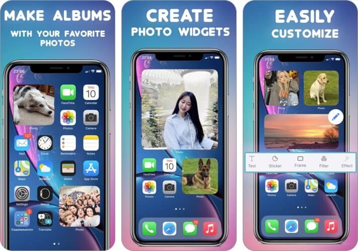 Фото виджеты iOS 14 сторонние виджеты домашнего экрана для iPhone Скриншот
