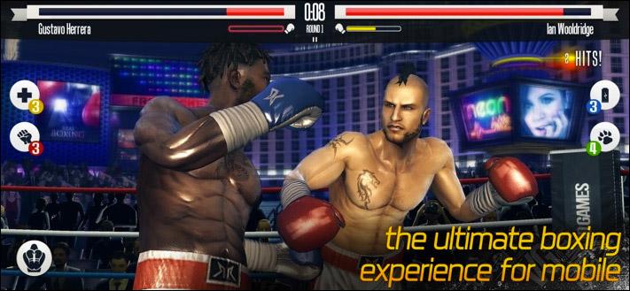 Скриншот игрового приложения Real Boxing KO Fight Club для iPad и iPhone
