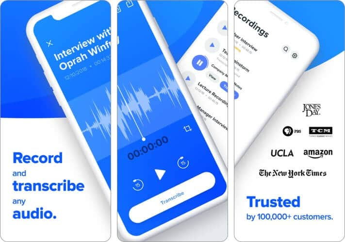 Скриншот приложения Rev Voice Recorder для iPhone