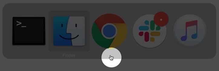 Переключение между различными приложениями, чтобы переместить исчезнувший курсор мыши в macOS