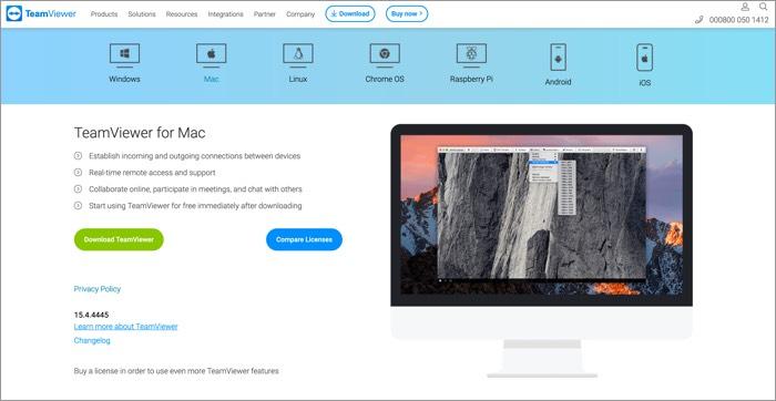 TeamViewer для Mac Скриншот