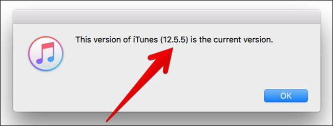 Посмотреть версию iTunes на Mac