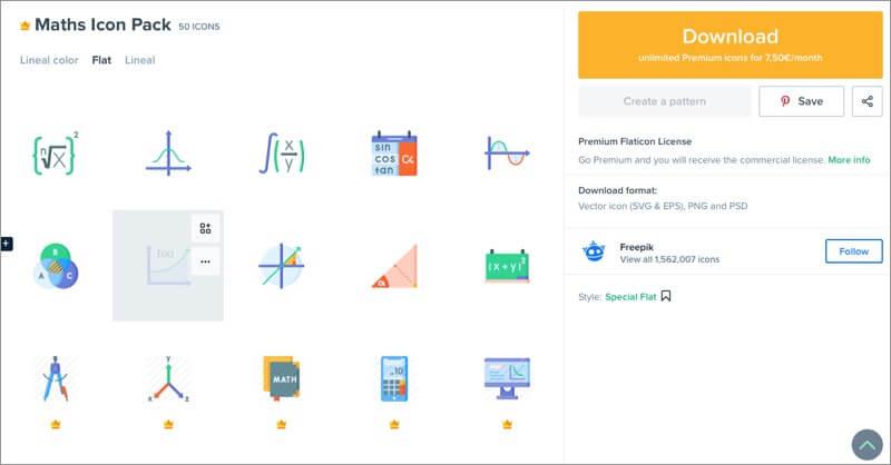 пакеты значков математической темы для iphone и ipad