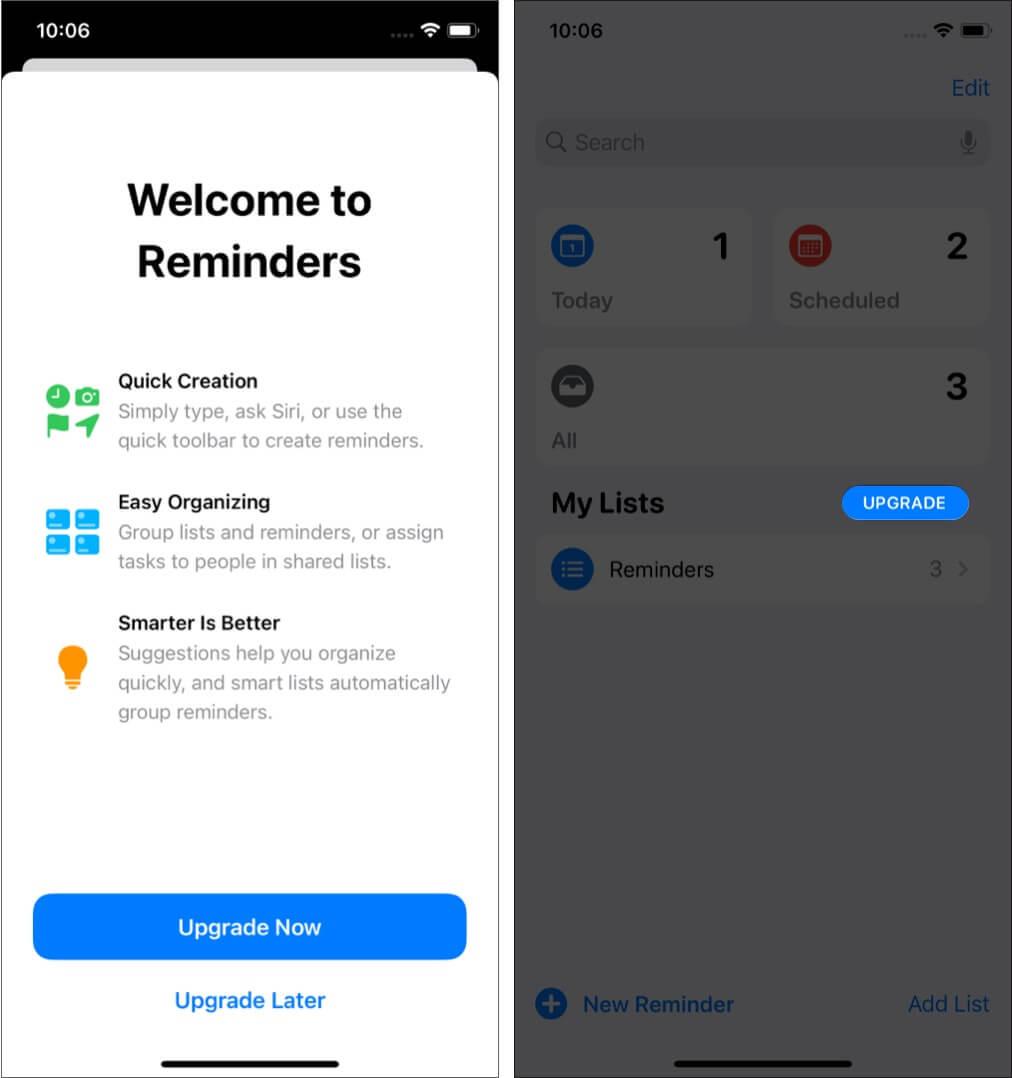 Обновите напоминания на iPhone или iPad
