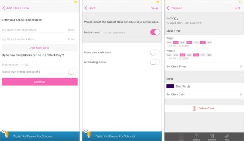 Добавьте расписание по школе в приложении myHomework для iOS
