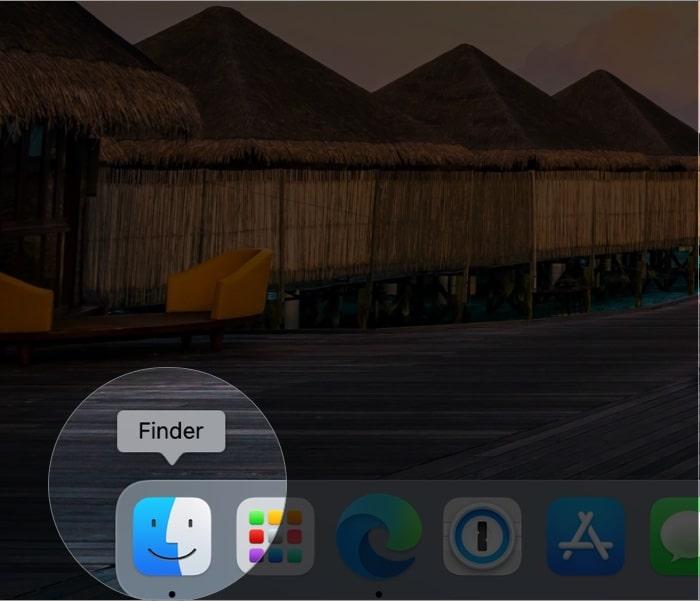Откройте Finder, щелкнув значок Finder в Mac Dock.