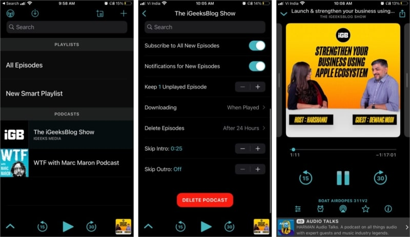 Приложение для подкастов Overcast для iPhone и iPad