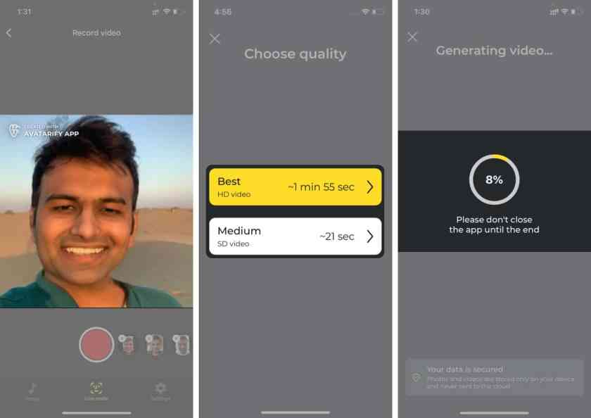 Выберите качество видео и сохраните видео на iPhone