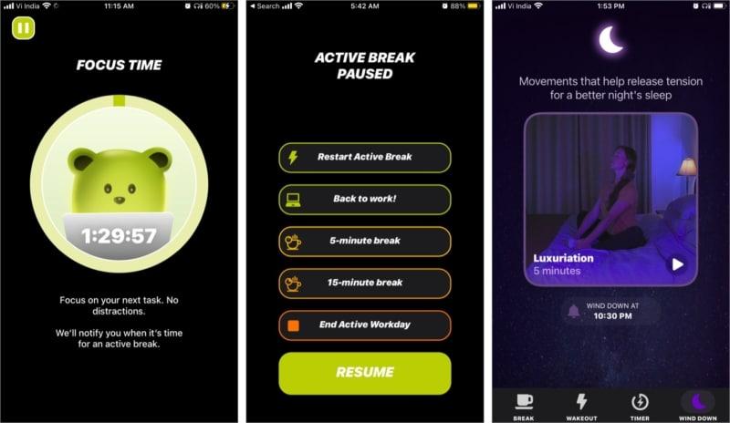 Функция балансировки в приложении Wakeout для iOS