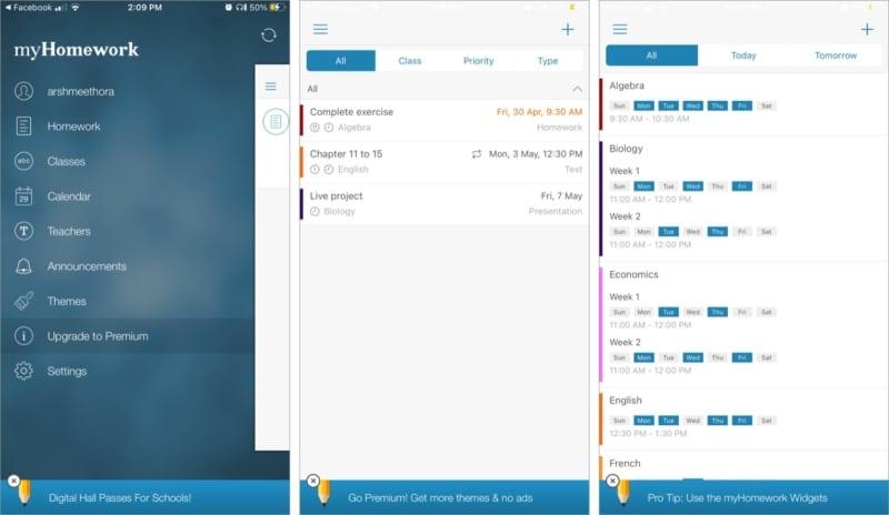 Отслеживайте уроки и домашние задания учащихся с помощью приложения myHomework для iOS