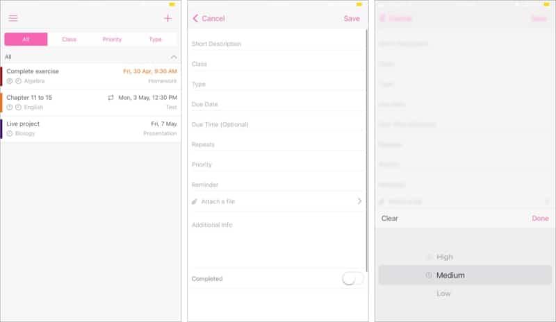 Отслеживайте домашнее задание с помощью приложения myHomework для iOS