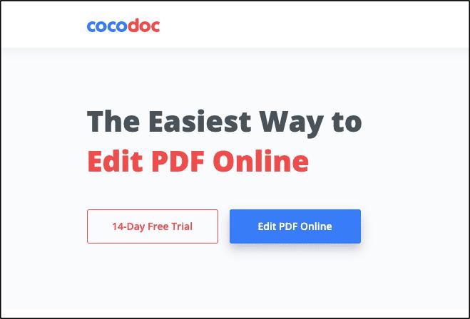 редактировать PDF-файлы бесплатно с помощью CocoDoc