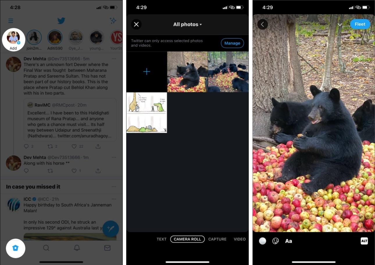 Как создать новый флот Twitter на iPhone