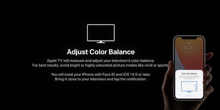 Отрегулируйте цветовой баланс с помощью iPhone