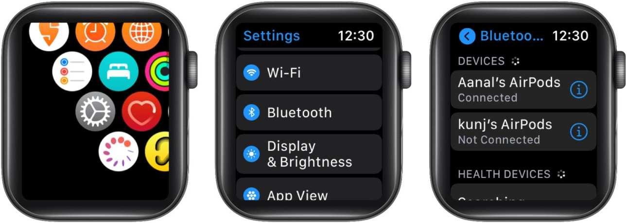 Подключите наушники Bluetooth к Apple Watch