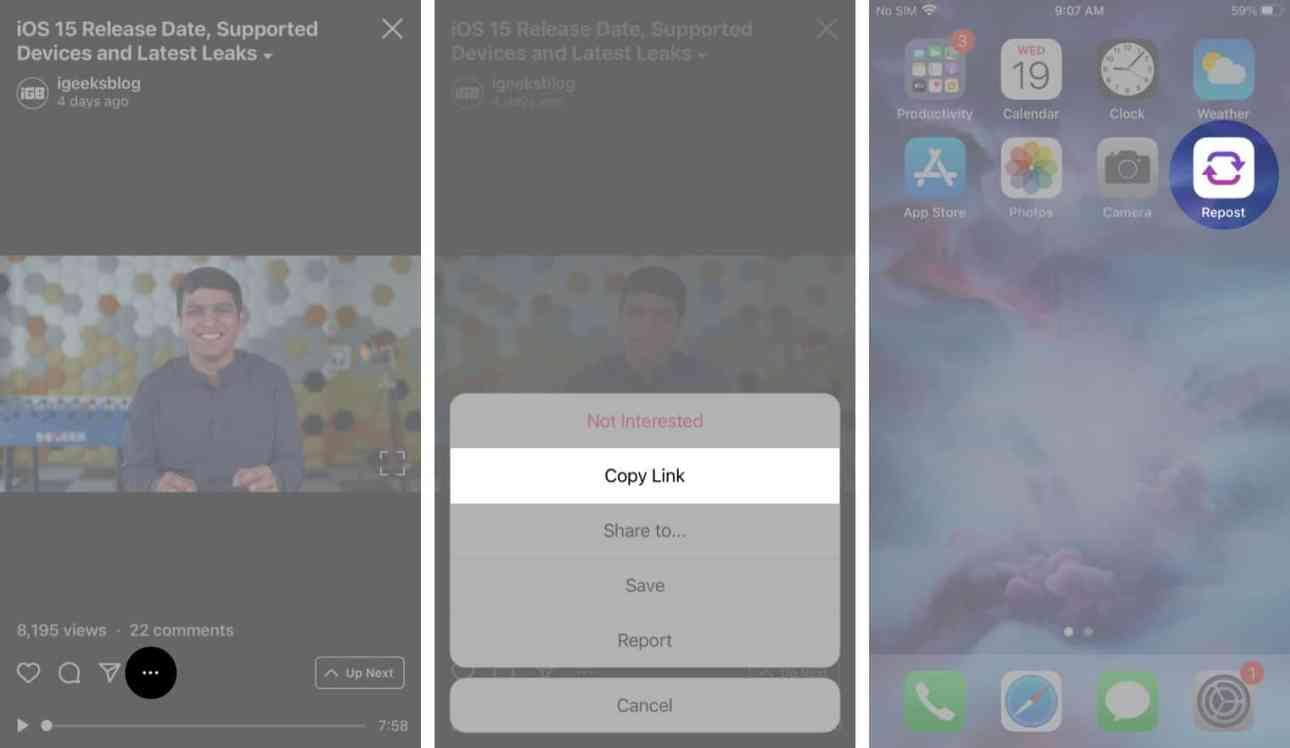 Как сохранить видео IGTV на свой iPhone