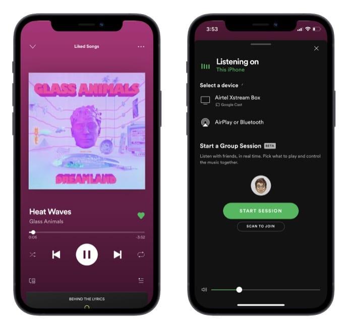 Как начать групповую сессию на Spotify с iPhone и Mac