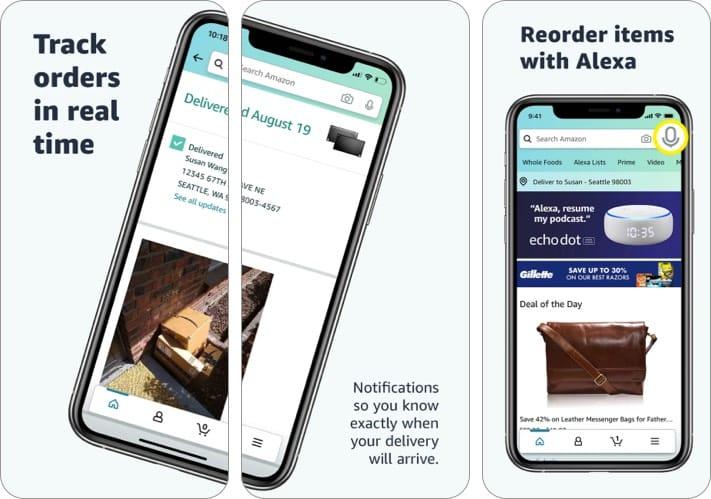 Скриншот приложения для iPhone подарков Amazon