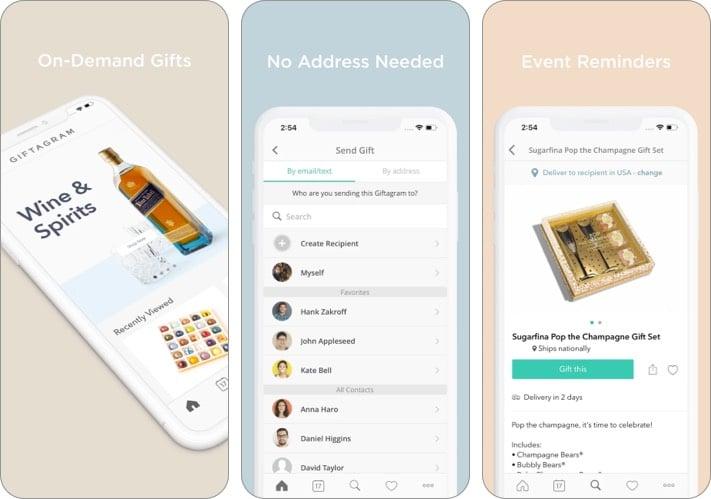 Скриншот приложения Giftagram для iPhone