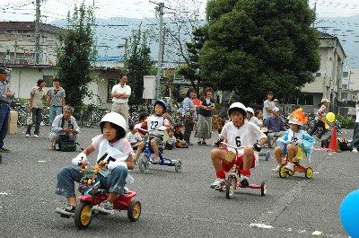 三輪車レース