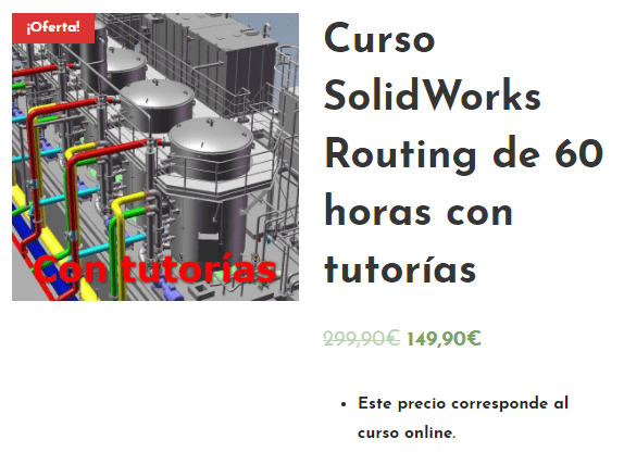 Curso Solidworks Routing en español