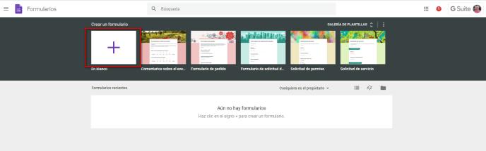 Crear formulario en blanco - Instituto Galego de Formación