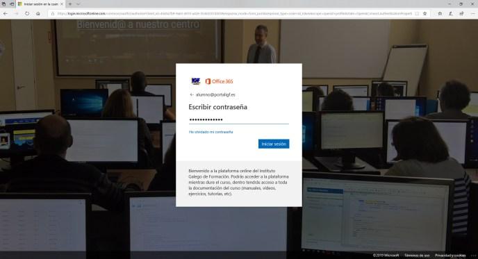 Login Office 365 - Instituto Galego de Formación