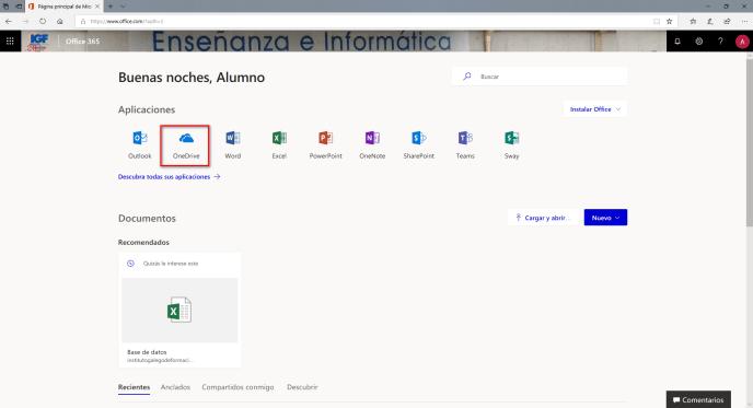 Onedrive Office 365 - Instituto Galego de Formación