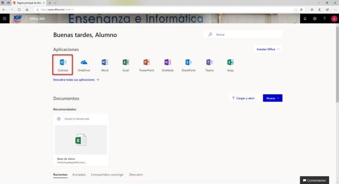 Página de inicio de Office 365 - Instituto Galego de Formación